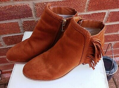 £6 • Buy Red Herring Brown Ankle Boots Size 5 Pre Owned In Good Condition