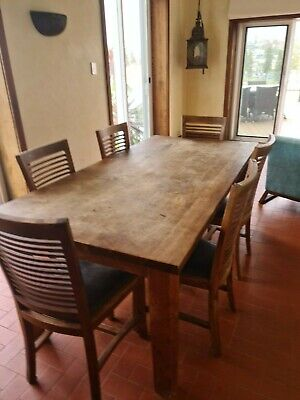 AU0.01 • Buy Dining Table And Chairs Solid Teak 8 Seater
