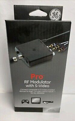 £8 • Buy NEW GE Pro RF Modulator With S-Video For All Brands #38806 FREE SHIPPING