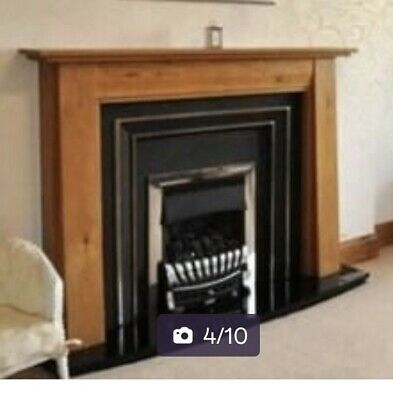 £46 • Buy Oak Fireplace, Fire, Surround And Marble Hearth