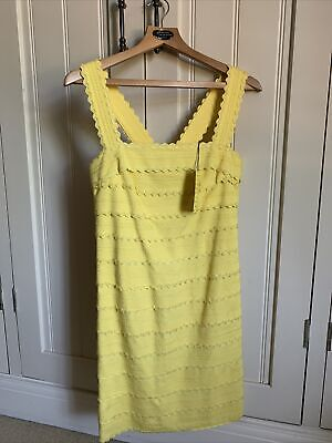 £80 • Buy Luisa Spagnolli Ladies Yellow Fitted Shift Dress BNWT Size 40/Small 8