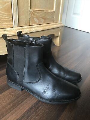 £15 • Buy Ladies Clarks Goretex Black Leather Chelsea Ankle Boots Size 4.5