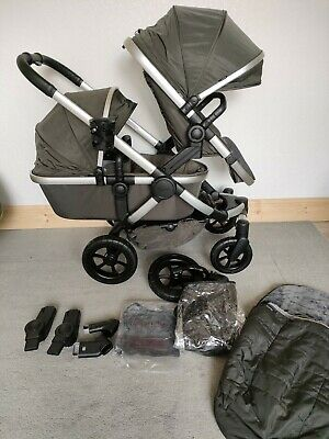 £770 • Buy ICandy Peach All-Terrain Forest DOUBLE Pushchair On Satin Chassis