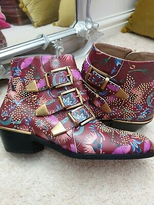 £75 • Buy Chloe 'Limited Edition' Susanna Ankle Boots, UK 2/3 Floral With Gold Studs