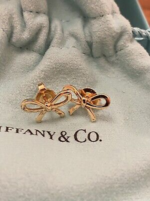 £295 • Buy Tiffany And Co Rose Gold Bow Earrings