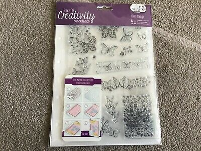 £0.50 • Buy BRAND NEW Docrafts Creativity Essentials Clear Stamps BUTTERFLIES