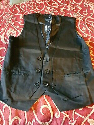 £4.99 • Buy Mens White Waistcoat (same As Black In Photo) Deep Pockets Either Side. SzM.NWT