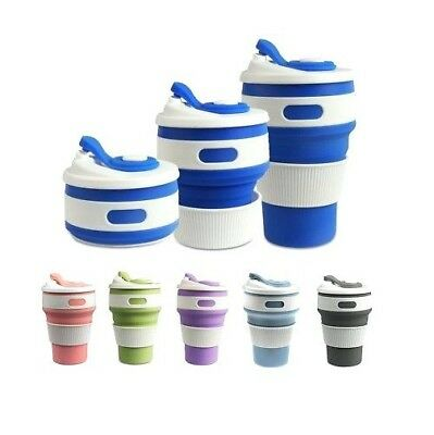 £8.69 • Buy New Folding Silicone Mug Cup Collapsible Cup Travel Plastic Custom Coffee Mugs