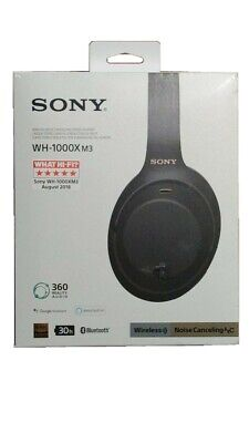 £109 • Buy SONY WH-1000XM3 Wireless Noise Cancelling Headphones - Black *BRAND NEW* SEALED