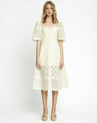 AU150 • Buy Alice McCall Size 12 Angels Creme Midi Dress New With Tags