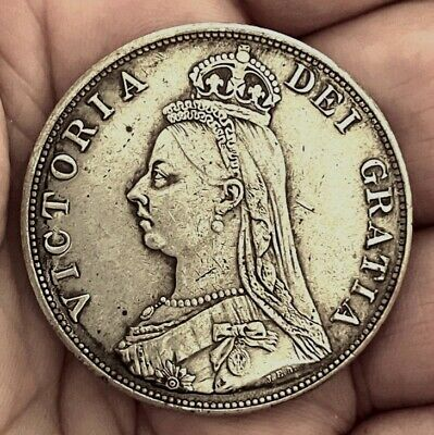 £1.29 • Buy 1889 Queen Victoria Jubilee Head Double Florin ~ Silver Plated Coin