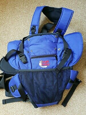 £10 • Buy Blue/black Bush Baby Cocoon Baby Carrier