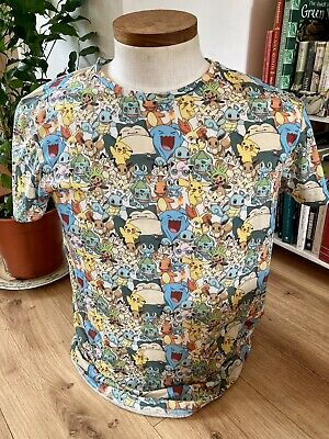 $9.56 • Buy Pokemon T-Shirt Official All Over Print  Size Large
