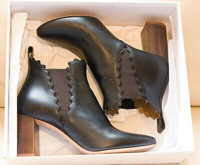 £5.50 • Buy Chloe Ankle Boots Black Leather Size 39 UK 6 RRP £615