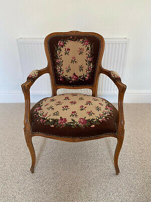 £30 • Buy Antique Victorian Carved Balloon Back Tapestry Chair. Wooden  - Bedroom Hall