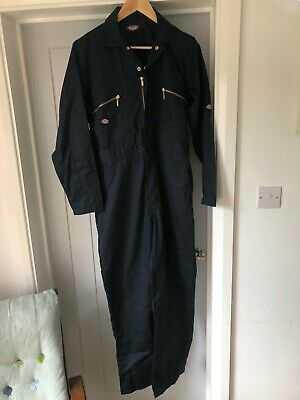 £12 • Buy Dickies Cotton Overalls/ Coverall Boiler Suit Navy Blue Size 38R