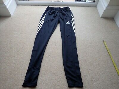 AU15.10 • Buy Men's Youth's Adidas Black Climalite Track Suit Bottom Trouser Size Small