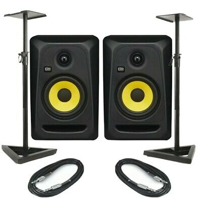 £149 • Buy Barely Used KRK Rokit RP5 G3 Active Powered Speakers With FREE Stands And Leads
