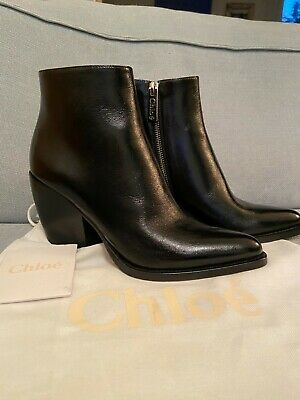 £169.99 • Buy RRP £770 BN Chloe Rylee Black Ankle Boots From Matches Fashion - European 39