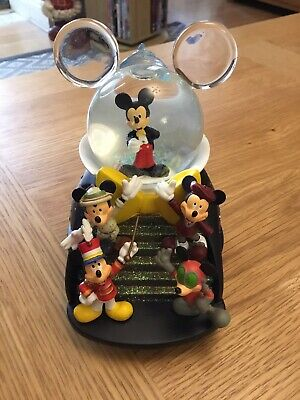 £30 • Buy Snow Globe Mickey Mouse March Musical Featuring 6 Mickey Characters,disney Parks