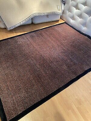 £200 • Buy Genuine Chinese Rug With Leopard Pattern In Brown & Black With Solid Black Edge