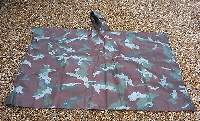 £120 • Buy  SANDF SOUTH AFRICAN SOLDIER 2000 CAMO Poncho 2009
