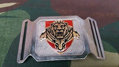 £19 • Buy SANDF South African National Defence Force Pride Of Lions Stable Belt Buckle