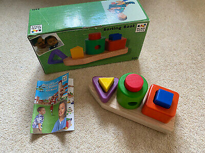 £30 • Buy Vintage Plan Toys Brio 1998 Wooden Sorting Boat Rare Boxed Perfect Condition