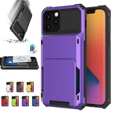 AU15.25 • Buy Shockproof Card Slot Case Hard Cover For IPhone 13 12 Pro Max 11 XR XS 876+ SE2