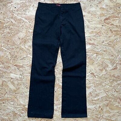 £19 • Buy Women's Black W28 L32 Uk 8 Dickies Relaxed Fit Workwear Work Pant Chino Trousers