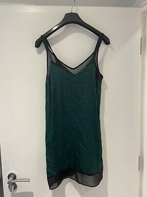 £4 • Buy E TopShop Short Dress Size 8 Green Silk Material. Used But Great Condition