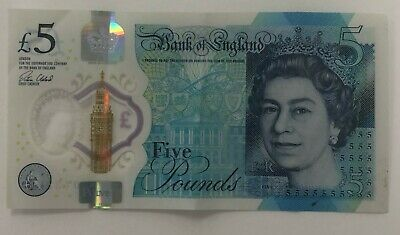 £8.50 • Buy AA01 Five Pound - £5 FIVE POUND POLYMER NOTE - VERY LOW SERIAL NUMBER RARE