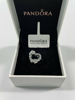 £13.99 • Buy ALE S925 Genuine Pandora Open Heart & Rose Flowers Charm With Gift Box