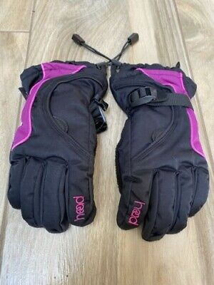£3 • Buy HEAD Kids Black With Pink Ski Gloves- Technical