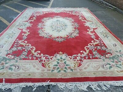 £249.10 • Buy Chinese Large Rug 12ft X 9ft Wool