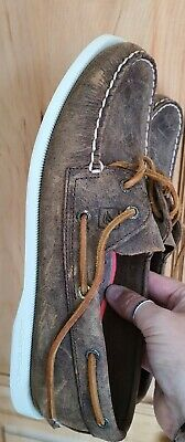 £35 • Buy Sperry Top Sider Boat Deck Shoes Brown UK 6.5 US 9M EUR 40 Exc Condition!