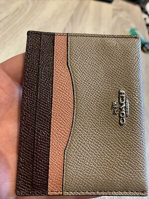 £14.50 • Buy COACH Signature Skinny Mini ID Card Holder Purse Wallet Case Leather