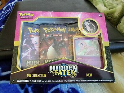$100 • Buy POKEMON HIDDEN FATES MEW PIN COLLECTION X 1 - FACTORY SEALED