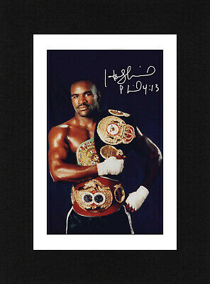 £5.99 • Buy 8X6 Mount EVANDER HOLYFIELD Signed PHOTO Gift Boxing Print Ready To Frame