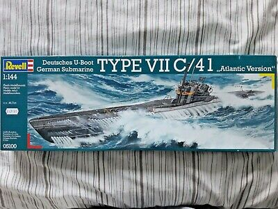 """£12.50 • Buy Revell 1/144 U-Boat, Type VIIC /41 """"Atlantic Version"""", Decals X 4, Parts Sealed"""