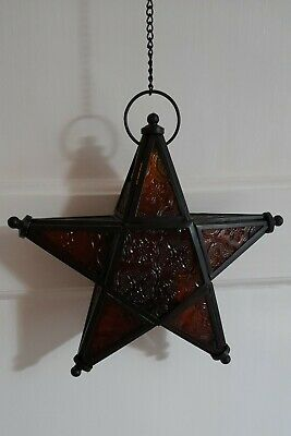 £9.50 • Buy Moroccan Style Hanging Star Tealight Holder