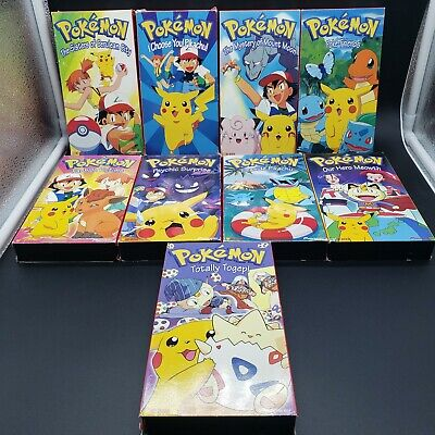 $27.95 • Buy Lot Of 9 Pokemon VHS Tapes! Our Hero Meowth, I Choose You Pikachu! VINTAGE OOP