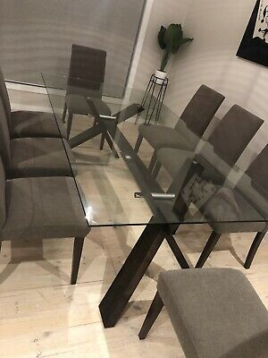 AU1000 • Buy Glass Dining Table And Chairs