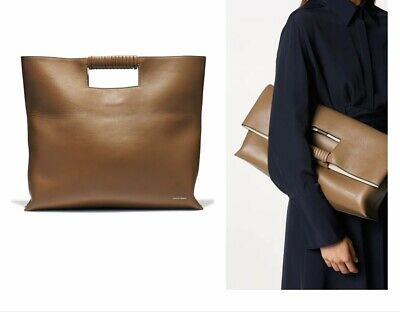 AU149 • Buy Scanlan Theodore Tan Leather Large Fold Over Tote Bag