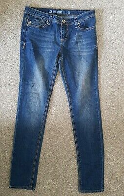 £6 • Buy Womens Denim Co Blue Low Rise Casual Everyday Pockets Skinny Jeans Size 10