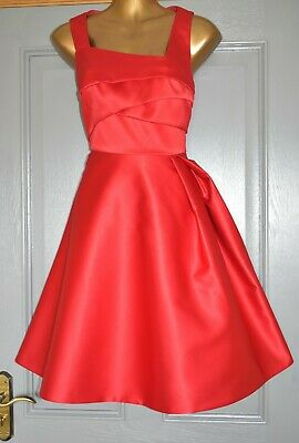 AU24.53 • Buy Coast Red Duchess Satin Formal Evening Party Wedding Occasion Dress Size 14