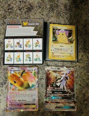 $0.99 • Buy Oversized Pokemon Cards  Lot Of 9 With Book And Paper Insert Checklist Pikachu