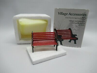 £6.22 • Buy 1999 Department 56 Village Red Wrought Iron Park Bench #56-56445