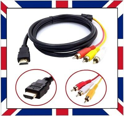 £4.06 • Buy 1.5m HDMI Male To 3 RCA 3RCA Male Cable Audio Projector Video DVD 1080p HDTV 4k