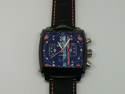 £62 • Buy Mens Watch Racing Le Mans Steve McQueen Monaco Porsche Gulf Look New With Tag